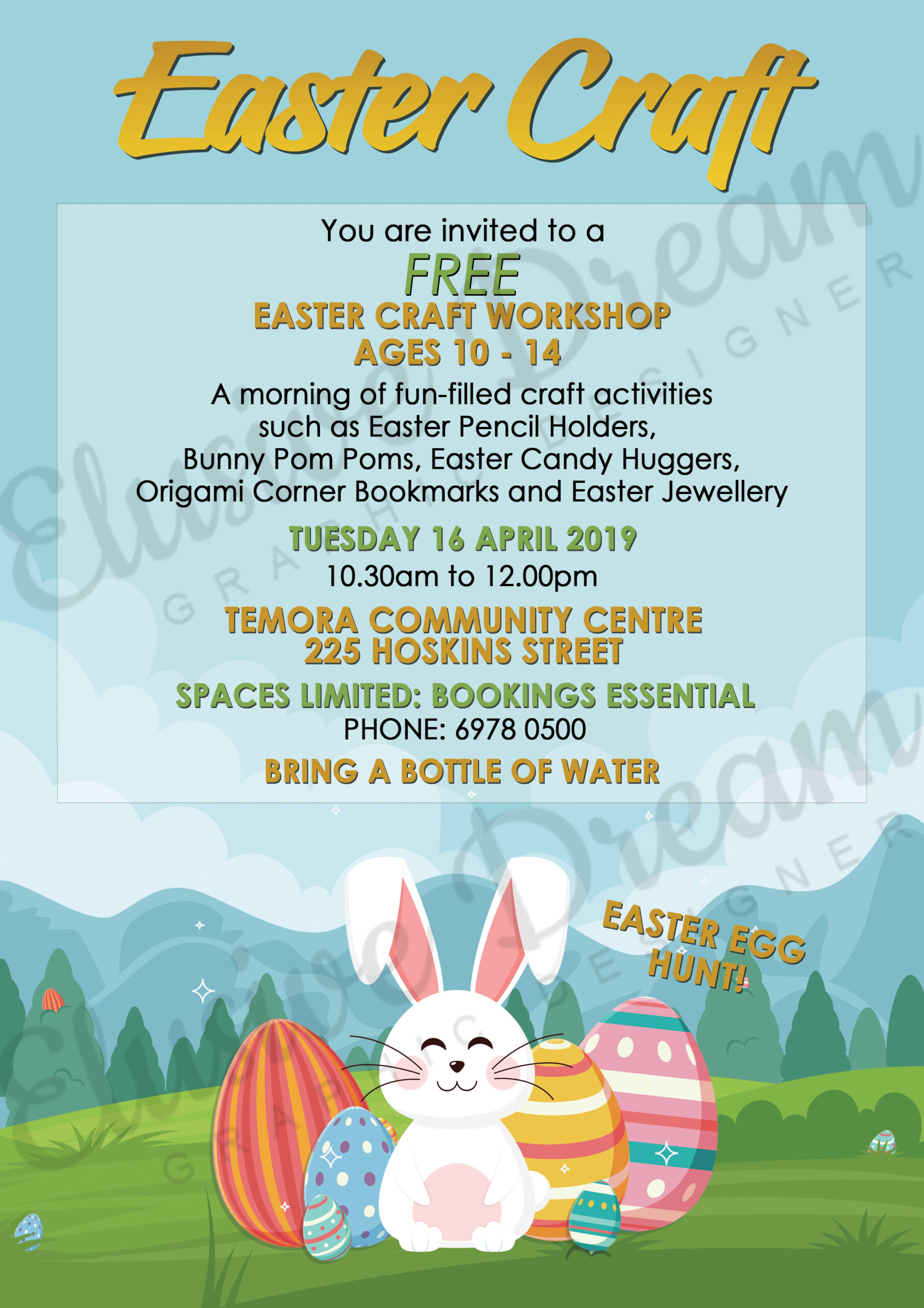 Temora Community Centre Easter Craft Poster 2019.png scaled