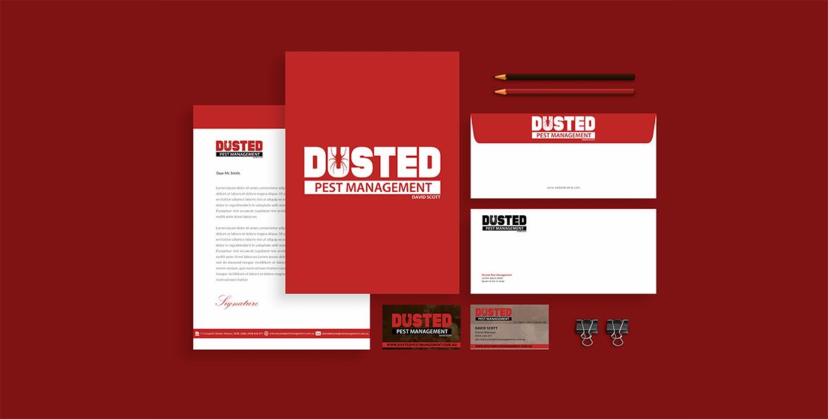 Dusted Pest Management Branding 1
