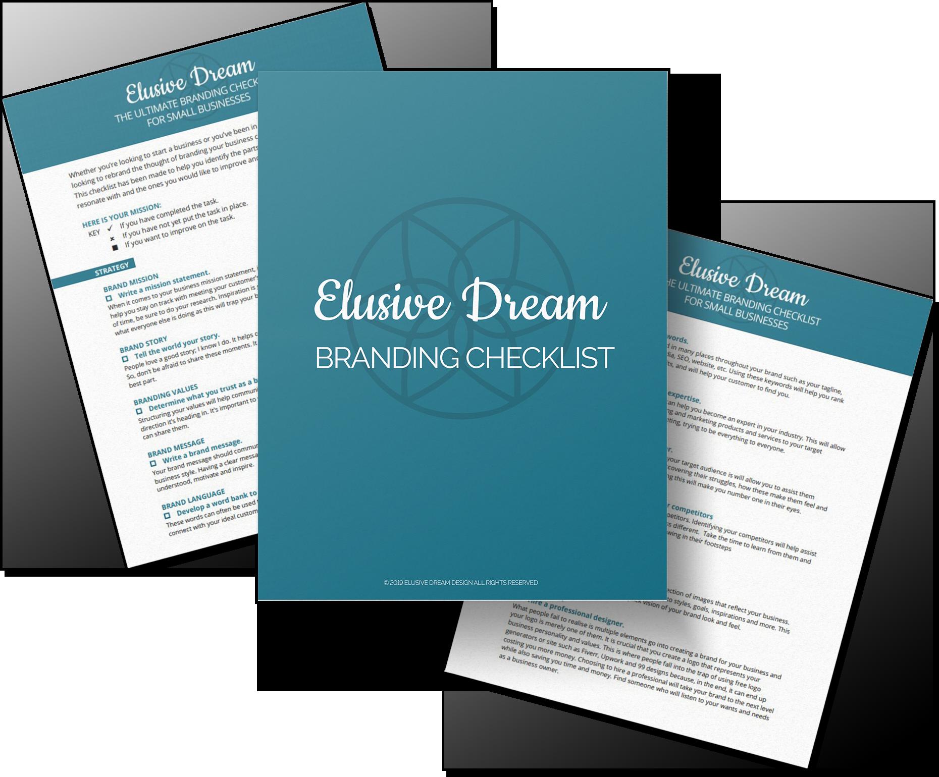 Checklist mockup